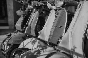Vespa moped in Milan