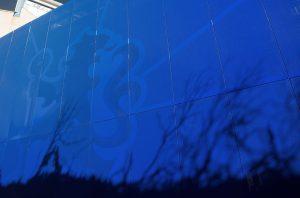 CFC Stamford Bridge blue cladding