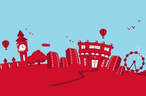London skyline graphic from Marketing Guidelines