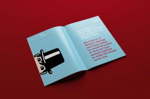 Hamleys Marketing Guidelines spread featuring type and illustration