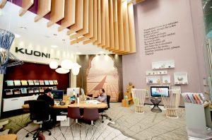 Interior design of a Kuoni store