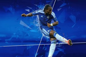 CFC Stamford Bridge graphic installation featuring Didier Drogba
