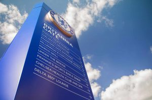CFC Stamford Bridge installation, Britannia Gate Totem Sign