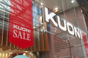 Kuoni store front with sale graphics