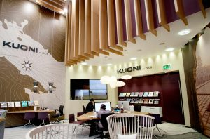 Interior design of a Kuoni store